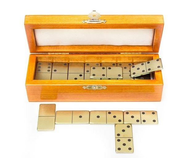 Set of zirconia dominoes in a box