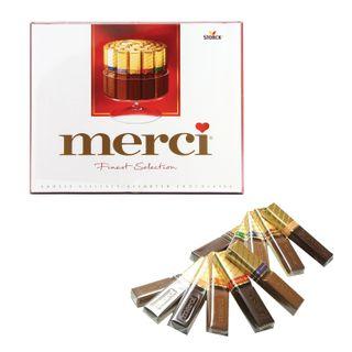 MERCI / Assorted chocolates, cardboard box 250 g