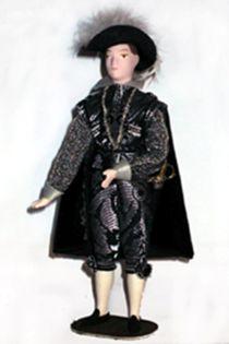 Doll gift. Men's court dress. Spain. Prado. The beginning of the 17th century.