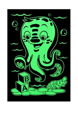 "Stencil-night light ""Underwater world"" A4 format"