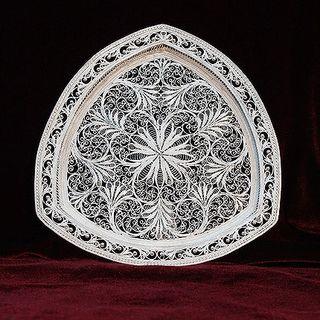 "Plate ""one-stop"" silvering, Kazakovo Filigree"