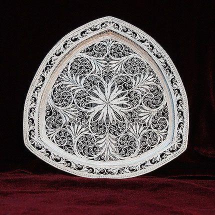 Plate 'one-stop' silvering, Kazakovo Filigree