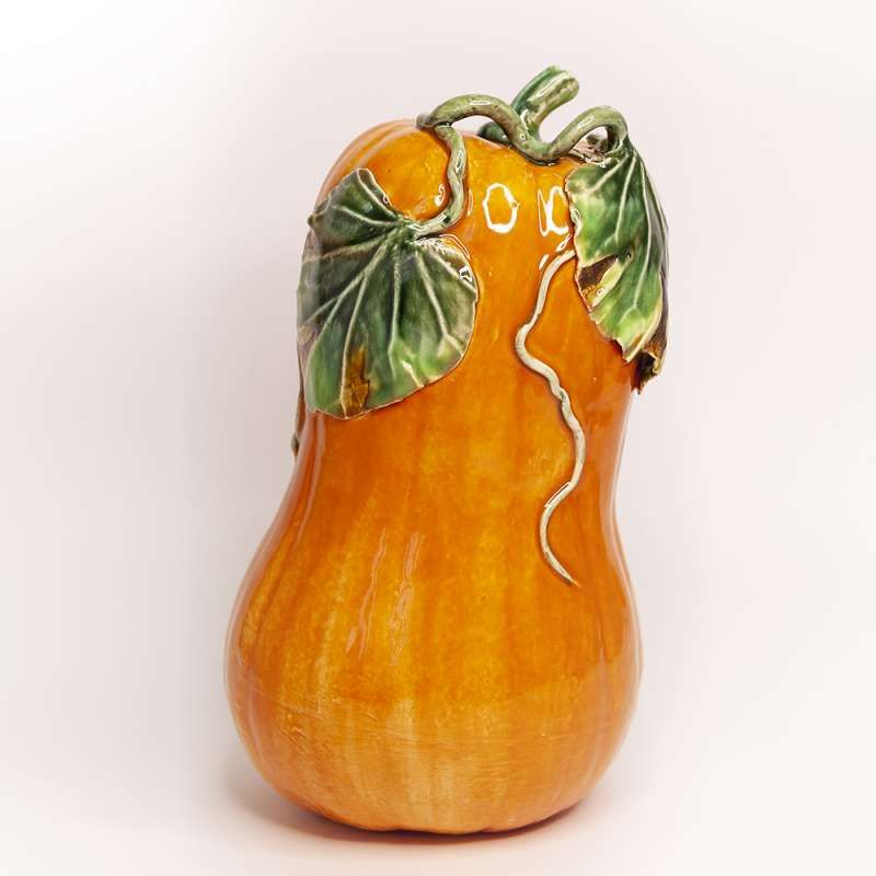 "Yaroslavl majolica / ""Elongated pumpkin"" figurine"