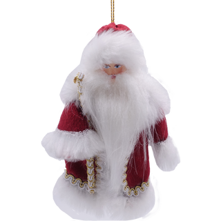 Christmas tree decoration handmade porcelain Santa Claus 13 cm