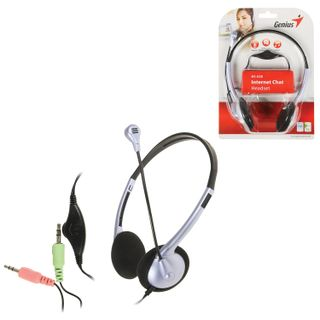 GENIUS / Headphones with microphone (headset) HS-02B, wired, 1.8 m, stereo, on-ear, mini jack 3.5 mm