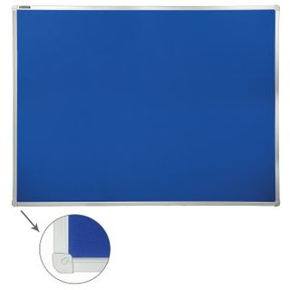 Board with textile covering for ads (90x120 cm) blue, 10 YEARS WARRANTY, RUSSIA, BRAUBERG