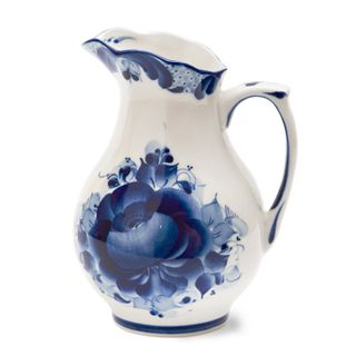 The pitcher of Aquarius small 0.5 l 2nd grade, Gzhel Porcelain factory