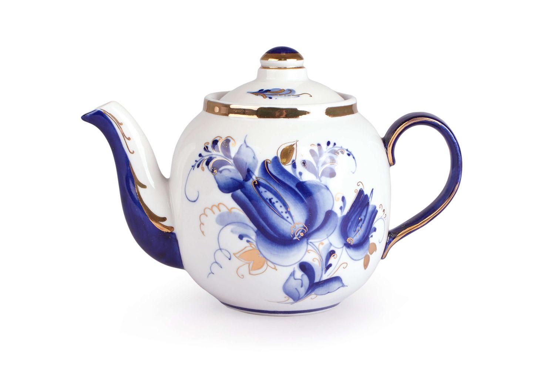 Dulevo Porcelain / Teapot 700 ml Amber Tulip Gold