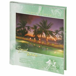 Photo album BRAUBERG 20 magnetic sheets, 23х28 cm, Resort, private box, green