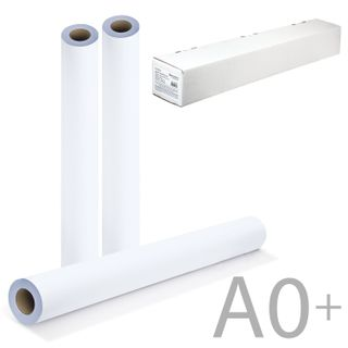 Roll for plotter, 914 mm x 45 m x bushing 50.8 mm, 90 g/m2, white CIE146%, BRAUBERG