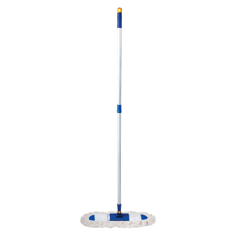 LIME / Mop-frame 40 cm, aluminum telescopic handle 130 cm (thread 1.6 cm), mop cotton