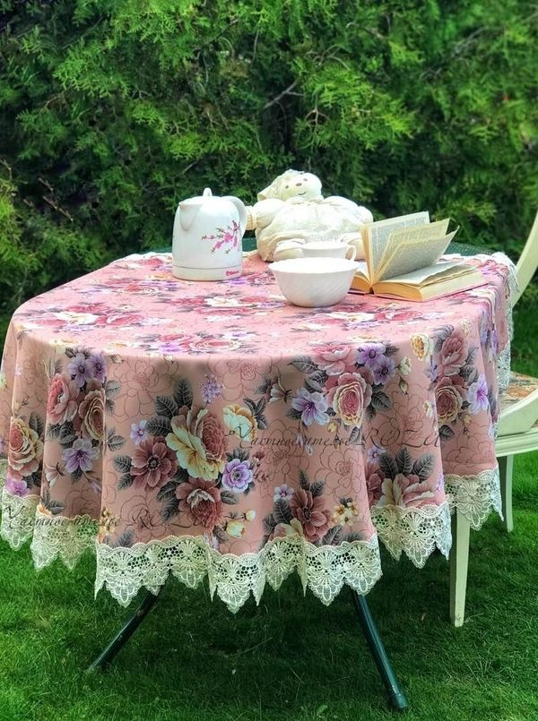 Tablecloth with lace beauty