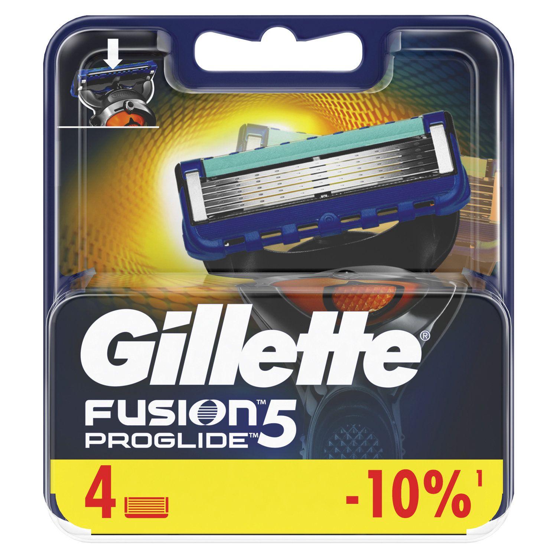 """Replacement shaving cassettes 4 pcs. GILLETTE """"Fusion ProGlide"""" for men"""