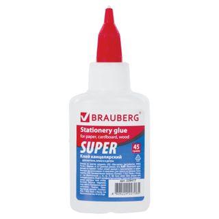 Glue stationery BRAUBERG-SUPER (paper, cardboard, wood), 45 g