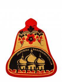 """Khokhloma painting / Wooden magnet """"Moscow white stone"""""""