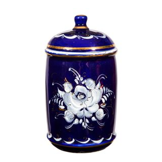 Bank Flower cobalt paint gold, Gzhel Porcelain factory