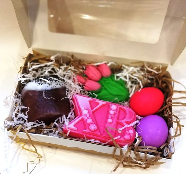 Large set of handmade soaps By Easter