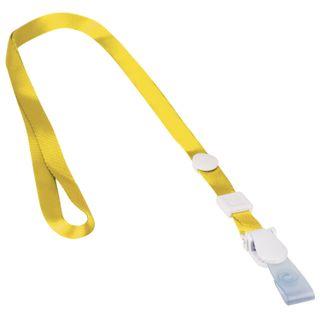The lanyard, 45 cm, detachable plastic clip-lock loop, YELLOW, BRAUBERG