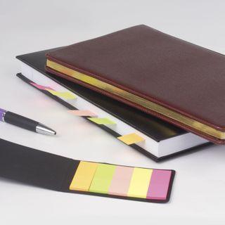 Bookmark adhesive BRAUBERG NEON paper, 45х15 mm, 5 colors x 20 sheets in a cardboard book