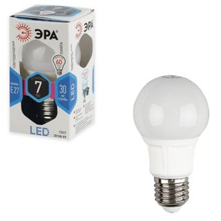 ERA / LED lamp 7 (60) W, E27 base, pear-shaped, cold white light, 30,000 hours, LED smdA55 / A60-7w-840-E27