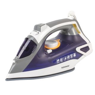 Iron SONNEN SI-240V, 2600 watts, ceramic coating, anticaps, antinakipin, purple