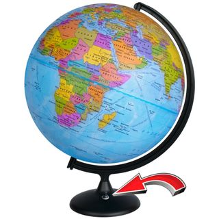 Political globe with a diameter of 420 mm with backlight battery powered (batteries not included)