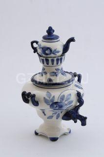 Samovar souvenir - Gzhel porcelain