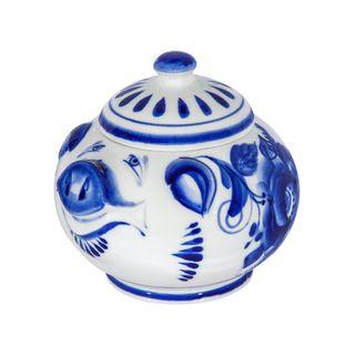 Sugar bowl Gilt 1st grade, Gzhel Porcelain factory