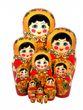 12 Khokhloma matryoshka dolls - view 1