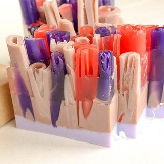 Lavender-chocolate-orange handmade soap bar 1 kg