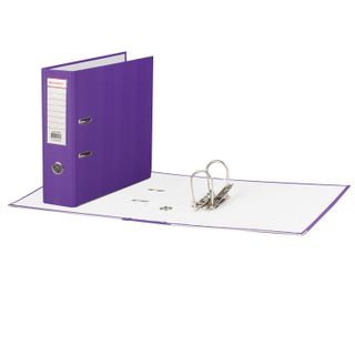 Folder-Registrar BRAUBERG with a coating of PVC, 80 mm, area, purple (double life)