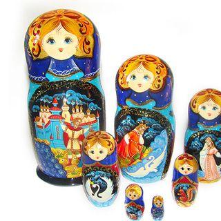 Matryoshka 7 places Fairy tales - Souvenir