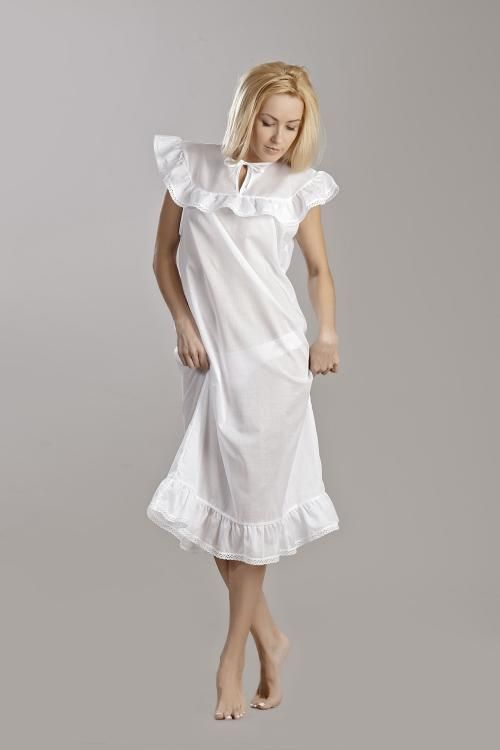 Chemise nightwear women's ruffle and lace