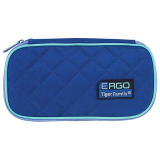 Pencil case TIGER FAMILY, 1 compartment, hinged, folding strap, blue/blue, 23х12х7 cm