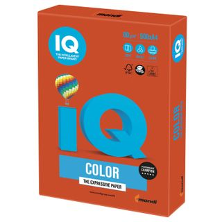 IQ COLOR / A4 paper, 80 g / m2, 500 sheets, intensive, red brick
