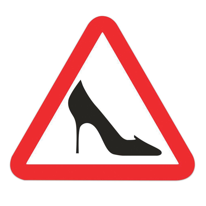 "Automobile sign ""Shoe"", triangle 200x200x200 mm, self-adhesive, euro suspension"