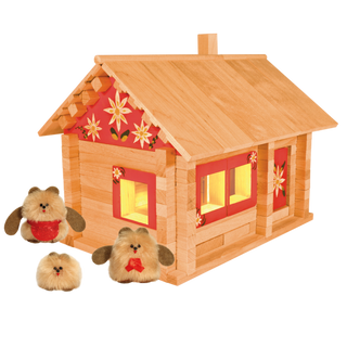 Designer Hut three bears with puppets, painting and wiring, 151 element, Pelsi