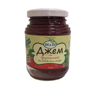 """Jam without sugar in the assortment of """"Di & Di"""" 300g"""