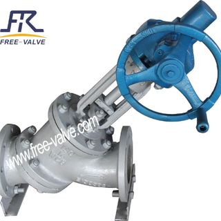 Y Type Slurry Angle Valve for Slurry Control,Manual Operation Y Type Slurry Valve for Alumina Industry