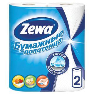 ZEWA / Household paper towels white 2-layer, solder 2 pcs. (2x14 m)
