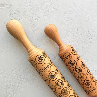 """Rolling pin pattern """"Navy"""" small (31 cm)"""