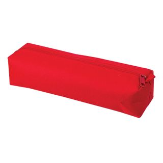 Pencil case-tube PYTHAGORAS zipper, textile, red, 20х5 cm