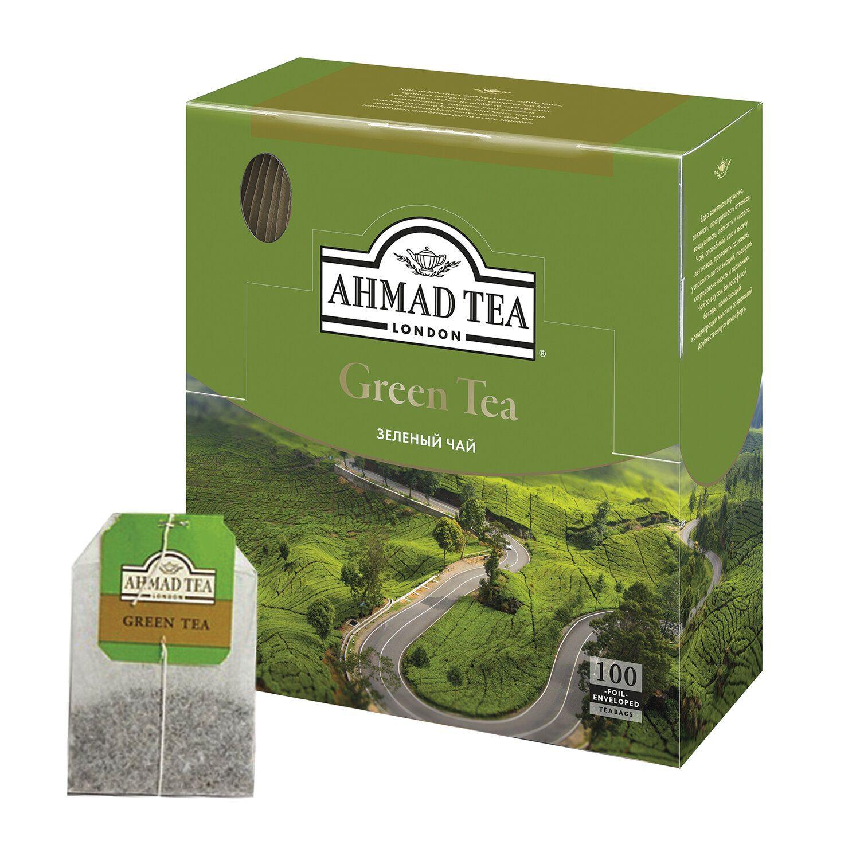 AHMAD / Green Tea, green, 100 sachets of 2 g