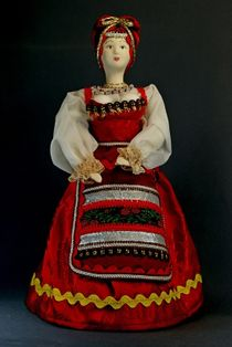 Doll gift porcelain. The Archangel's lips. Russia. Pomeranian women's costume. Late 19th - early 20th century.