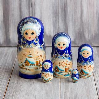 Matryoshka 5 seats Winter motifs - Souvenir
