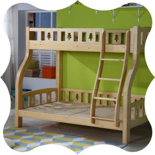 Children's beds are made of wood.