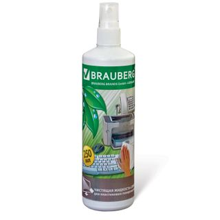 BRAUBERG / Cleaning liquid-spray for all plastic surfaces, 250 ml