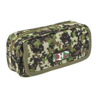 BRAUBERG pencil case for boys, 1 compartment, organiser, soft, Military, green, 21х5х9 cm