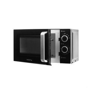 VEKTA MS720ATB microwave oven, 20 litre volume, 700 watt power, mechanical control, timer, black