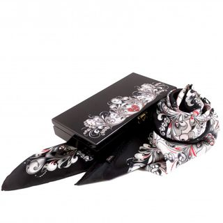 """Silk scarf in gift box """"Christmas divination"""""""